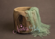 Plain Colour Lacey Wrap/Stuffer - LIGHT GREEN